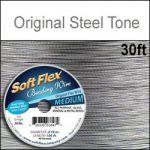 "30' .019""/24G/.50MM SOFT FLEX WIRE STEEL TONE 49 STD"