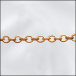 Base Metal Raw Brass Fine Cable Chain (Soldered Links)