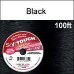 "(D) 100' .010""/30G/.25MM  SOFT TOUCH WIRE BLACK 7 STD"