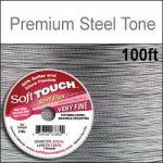 "100' .010""/30G/.25MM  SOFT TOUCH WIRE STEEL TONE 7 STD"