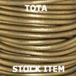 Round Leather Cord Tota