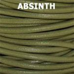 Round Leather Cord Absinth